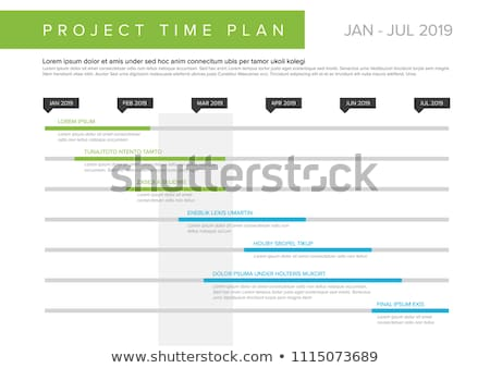 project timeline graph - gantt progress chart of project Stock photo © orson