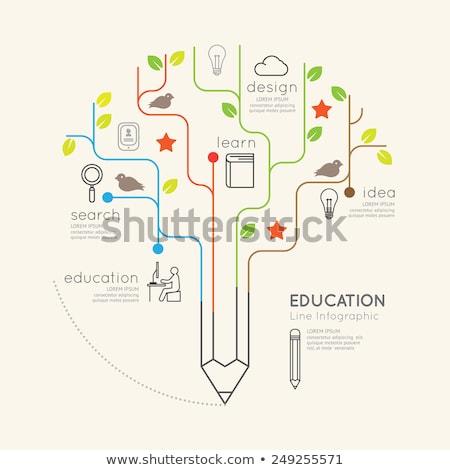 Stock photo: Pencil Tree Concept