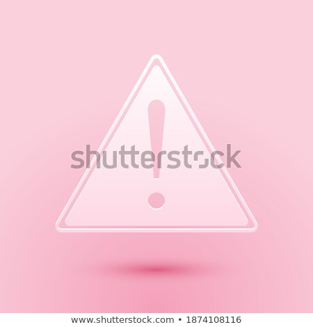 rouge · signe · danger · triangle · panneau · routier · isolé - photo stock © littlecuckoo
