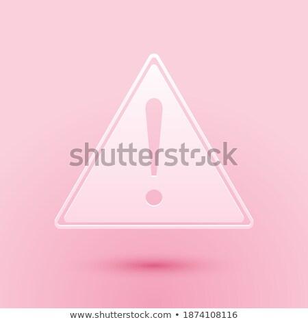vermelho · assinar · perigo · triângulo · placa · sinalizadora · isolado - foto stock © littlecuckoo