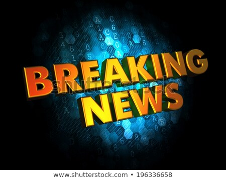 Breaking News - Gold 3D Words. Stock photo © tashatuvango