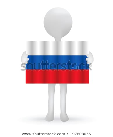 small 3d man holding a Russian Flag Stock photo © Istanbul2009