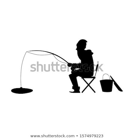 fishing silhouettes stock photo © Slobelix