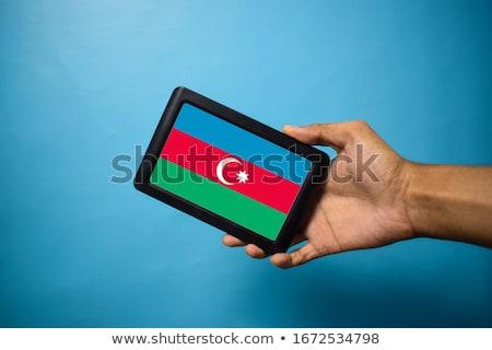 Smartphone banderą Azerbejdżan telefonu telefon podpisania Zdjęcia stock © vepar5