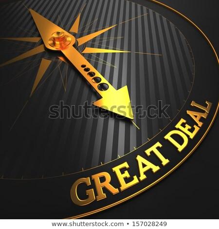 great deal   gold 3d words stock photo © tashatuvango