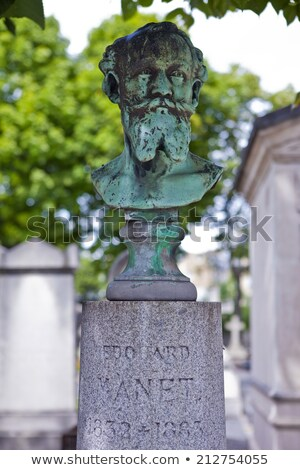 bust of edouard manet on his grave in passy cemetery stock photo © chrisdorney