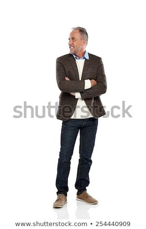 man · exemplaar · ruimte · portret · grijs - stockfoto © feedough