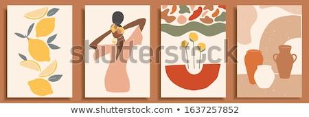 女の子 シルエット 抽象的な スペース 文字 ベクトル ストックフォト © almoni