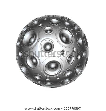 3D hangszóró hang fehér buli fém Stock fotó © Melvin07