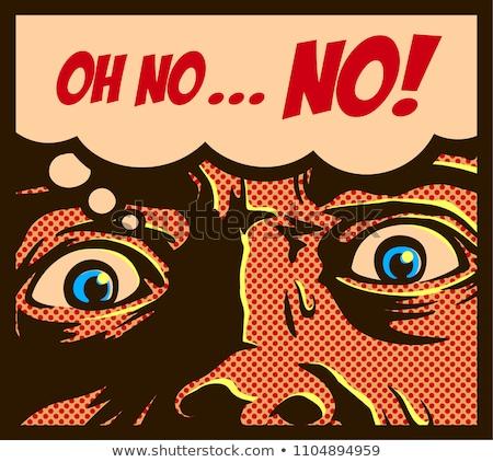 Cartoon przerażony człowiek strony projektu crazy Zdjęcia stock © lineartestpilot