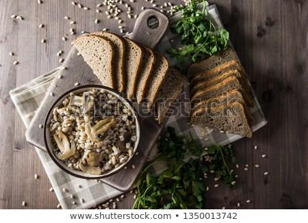 barley porrige with mushrooms stock photo © karaidel