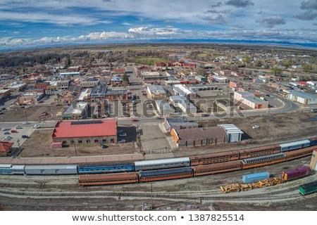 Estação de trem Colorado EUA edifícios Foto stock © phbcz