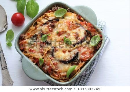 Mozzarella albahaca alimentos pelota saludable producto Foto stock © M-studio