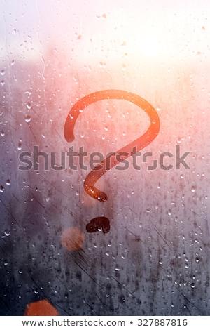 Foggy sign Stock photo © njnightsky