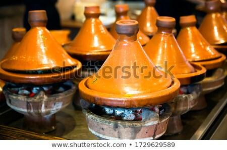 tradicional · cordeiro · legumes · fruto · frutas · carne - foto stock © hofmeester
