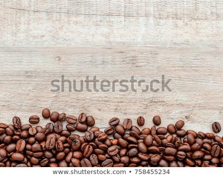 Kávébab fából készült textúra barna kávézó bab Stock fotó © xuanhuongho