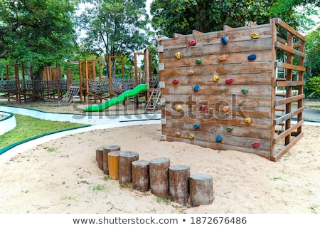climbing a wall with slider Stock photo © art9858