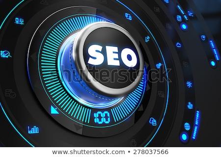 Seo fekete irányítás konzol keresés technológia Stock fotó © tashatuvango