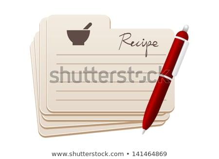 Rezept Karte Küchenchef jpg formatieren Stock foto © Voysla