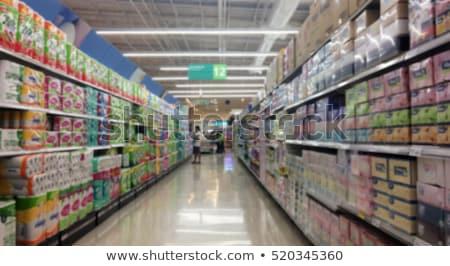 Supermarket na zewnątrz skupić zamazany streszczenie Zdjęcia stock © stevanovicigor