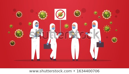 Médicos científico banner virus definición Foto stock © stevanovicigor