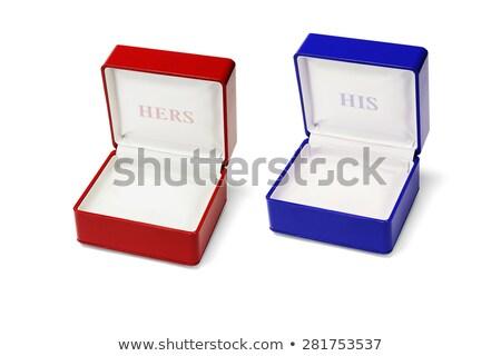 ювелирных коробки пусто белый свадьба окна Сток-фото © dezign56