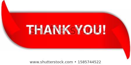 спасибо красный вектор икона дизайна цифровой Сток-фото © rizwanali3d
