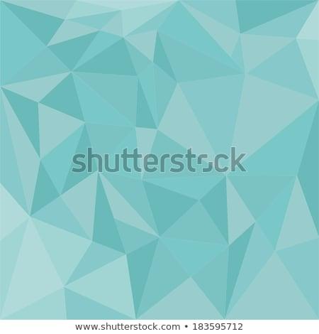 暗い パステル 緑 抽象的な 低い ポリゴン ストックフォト © patrimonio