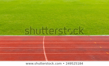Running track with lawn yard for the athletes background Stock photo © art9858