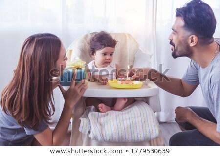 verjaardag · zwangere · vrouw · maag · aanwezig · liefde - stockfoto © dash