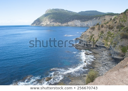 île élevé falaise côte montagne tasmanie Photo stock © roboriginal