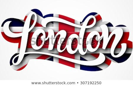 Stockfoto: Londen · tekst · geschreven · verbinding · bol · brug