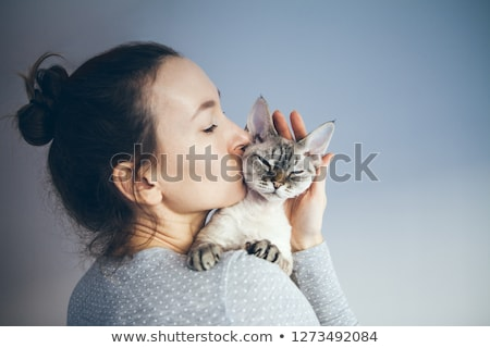 feliz · propietario · cute · gatito · médicos · oficina - foto stock © wavebreak_media