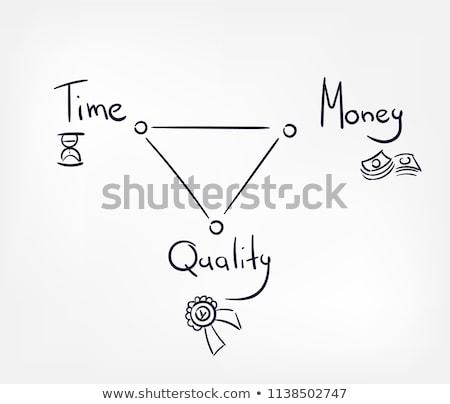 Tijd is geld woorden zakenvrouw man handen business Stockfoto © fuzzbones0