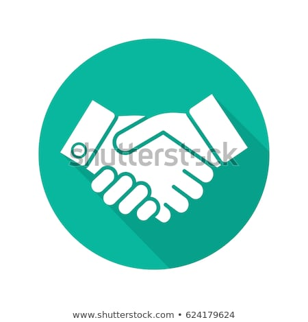 Two Businessmen Partnership Flat Circle Icon Stock photo © Anna_leni