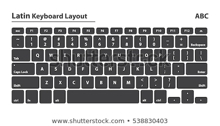 Electronic collection - Modern laptop keyboard with letters of t Stock photo © nemalo