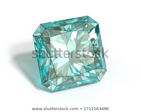 Bella gemma pietre isolato bianco vetro Foto d'archivio © tetkoren
