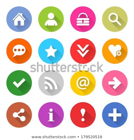Rss vector paars web icon knop Stockfoto © rizwanali3d