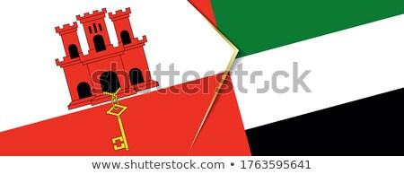 Birleşik Arap Emirlikleri cebelitarık bayraklar bilmece yalıtılmış beyaz Stok fotoğraf © Istanbul2009