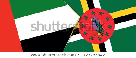 United Arab Emirates and Dominica Flags Stock photo © Istanbul2009