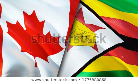 Canada and Zimbabwe Flags Stock photo © Istanbul2009
