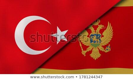 トルコ モンテネグロ フラグ パズル 孤立した 白 ストックフォト © Istanbul2009