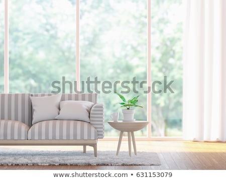 Wooden Room with Windows Stock photo © Kayco