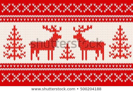 рождественская елка крест стежка шаблон дизайна фон Сток-фото © Galyna