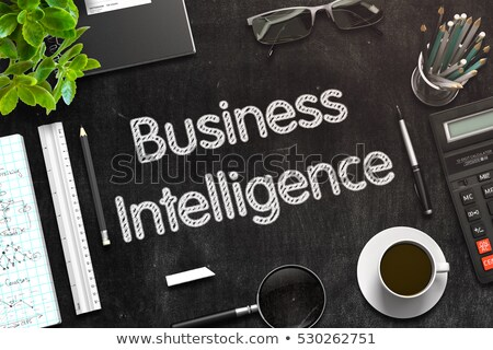 ビジネス · インテリジェンス · 黒板 · 緑 · カップ - ストックフォト © tashatuvango