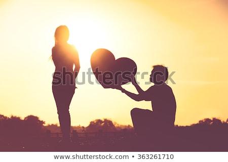 Vallomás szeretet meglepetés valentin nap dekoratív szív Stock fotó © Kotenko