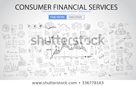 Consumer Financial Services concept with Doodle design style :finding solution, money spending, mone Stock photo © DavidArts