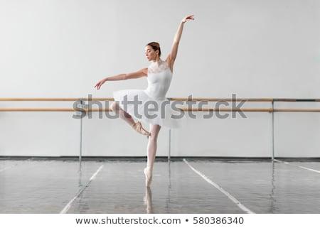Nő gyakorol balett osztály fiatal vonzó nő Stock fotó © deandrobot