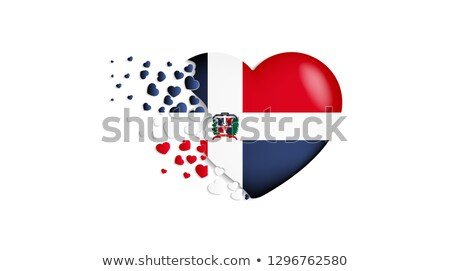 Dominican Republic Heart flag icon Stock photo © netkov1