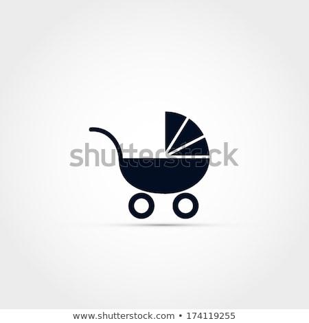 Baba ikon terv kerék születés vonal Stock fotó © kiddaikiddee
